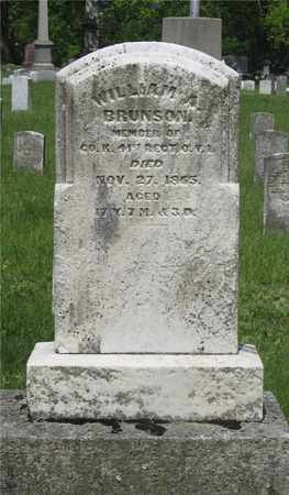 BRUNSON, WILLIAM A. - Franklin County, Ohio | WILLIAM A. BRUNSON - Ohio Gravestone Photos
