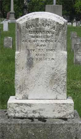 BRUNSON, WILLIAM A. - Franklin County, Ohio | WILLIAM A. BRUNSON - Ohio Gravestone Photos
