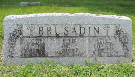 BRUSADIN, ALICE L - Franklin County, Ohio | ALICE L BRUSADIN - Ohio Gravestone Photos