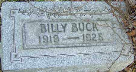 BUCK, BILLY - Franklin County, Ohio | BILLY BUCK - Ohio Gravestone Photos