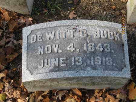 BUCK, DEWITT C - Franklin County, Ohio | DEWITT C BUCK - Ohio Gravestone Photos