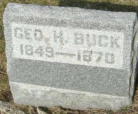 BUCK, GEORGE HURLBURT - Franklin County, Ohio | GEORGE HURLBURT BUCK - Ohio Gravestone Photos
