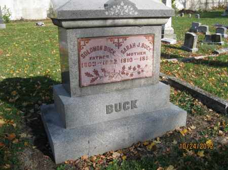 BUCK, SOLOMON - Franklin County, Ohio | SOLOMON BUCK - Ohio Gravestone Photos