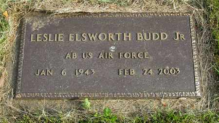 BUDD, LESLIE ELSWORTH - Franklin County, Ohio | LESLIE ELSWORTH BUDD - Ohio Gravestone Photos