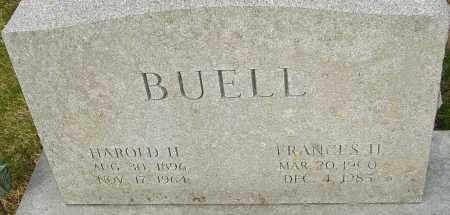 BUELL, FRANCES - Franklin County, Ohio | FRANCES BUELL - Ohio Gravestone Photos