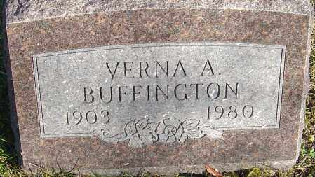 BOHLANDER BUFFINGTON, VERNA A - Franklin County, Ohio | VERNA A BOHLANDER BUFFINGTON - Ohio Gravestone Photos