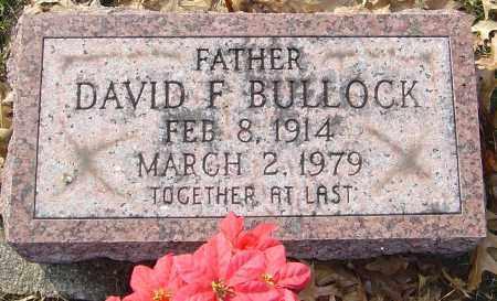 BULLOCK, DAVID F - Franklin County, Ohio | DAVID F BULLOCK - Ohio Gravestone Photos