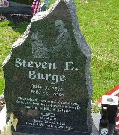 BURGE, STEVEN E - Franklin County, Ohio | STEVEN E BURGE - Ohio Gravestone Photos