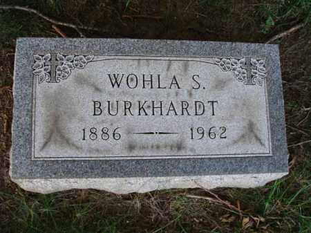 BURKHARDT, WOHLA S. - Franklin County, Ohio | WOHLA S. BURKHARDT - Ohio Gravestone Photos