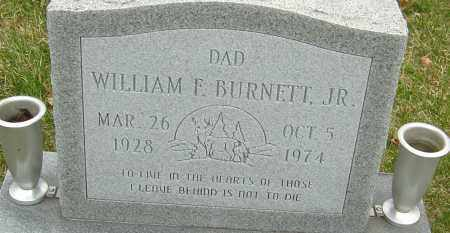 BURNETT JR., WILLIAM F - Franklin County, Ohio | WILLIAM F BURNETT JR. - Ohio Gravestone Photos