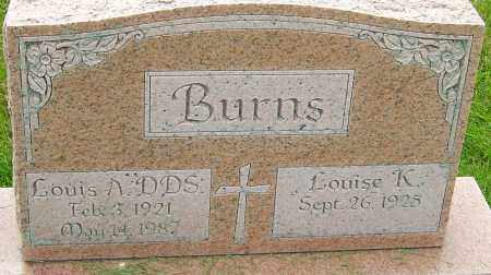 BURNS DDS, LOUIS A - Franklin County, Ohio | LOUIS A BURNS DDS - Ohio Gravestone Photos