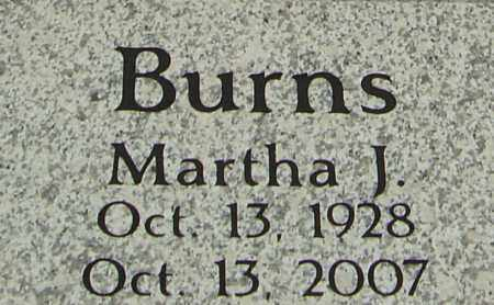 BURNS, MARTHA J - Franklin County, Ohio | MARTHA J BURNS - Ohio Gravestone Photos