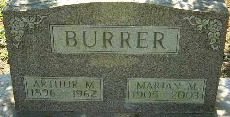 BURRER, MARIAN M - Franklin County, Ohio | MARIAN M BURRER - Ohio Gravestone Photos