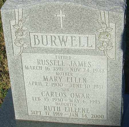 BURWELL, RUTH EILEENE - Franklin County, Ohio | RUTH EILEENE BURWELL - Ohio Gravestone Photos