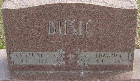 BUSIC, KATHERINE E - Franklin County, Ohio | KATHERINE E BUSIC - Ohio Gravestone Photos