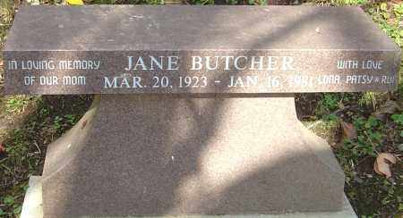 BUTCHER, JANE - Franklin County, Ohio | JANE BUTCHER - Ohio Gravestone Photos