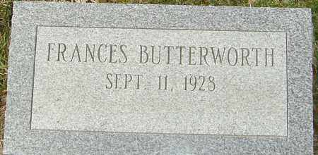 BUTTERWORTH, FRANCES - Franklin County, Ohio | FRANCES BUTTERWORTH - Ohio Gravestone Photos
