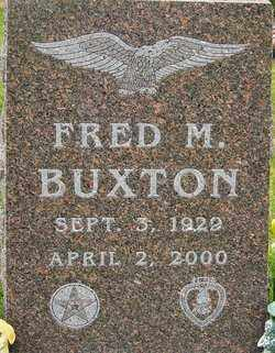 BUXTON, FRED M - Franklin County, Ohio | FRED M BUXTON - Ohio Gravestone Photos