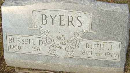 BYERS, RUTH J - Franklin County, Ohio | RUTH J BYERS - Ohio Gravestone Photos