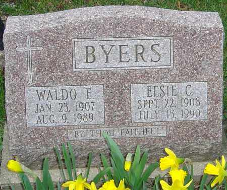 BYERS, WALDO E - Franklin County, Ohio | WALDO E BYERS - Ohio Gravestone Photos