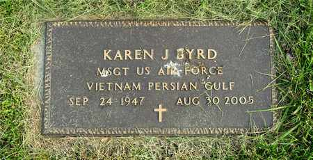 BYRD, KAREN J. - Franklin County, Ohio | KAREN J. BYRD - Ohio Gravestone Photos