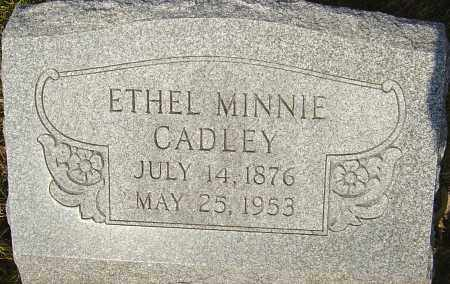 CADLEY, ETHEL - Franklin County, Ohio | ETHEL CADLEY - Ohio Gravestone Photos