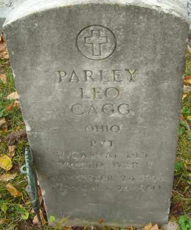 CAGG, PARLEY LEO - Franklin County, Ohio | PARLEY LEO CAGG - Ohio Gravestone Photos