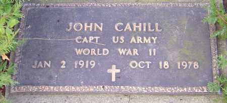 CAHILL, JOHN - Franklin County, Ohio | JOHN CAHILL - Ohio Gravestone Photos