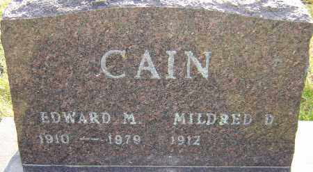 CAIN, EDWARD - Franklin County, Ohio | EDWARD CAIN - Ohio Gravestone Photos