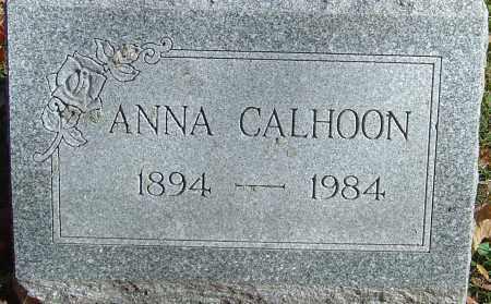 CALHOON, ANNA - Franklin County, Ohio | ANNA CALHOON - Ohio Gravestone Photos