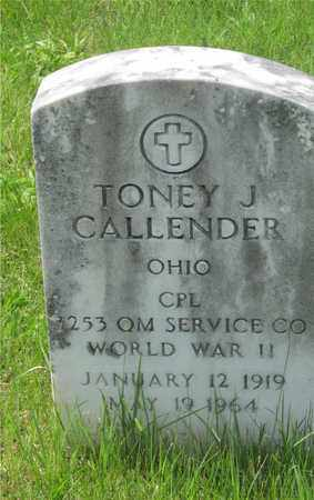 CALLENDER, TONEY J. - Franklin County, Ohio | TONEY J. CALLENDER - Ohio Gravestone Photos