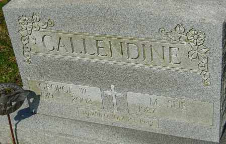CALLENDINE, GEORGE W - Franklin County, Ohio | GEORGE W CALLENDINE - Ohio Gravestone Photos