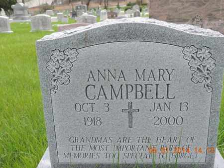 CAMPBELL, ANNA MARY - Franklin County, Ohio | ANNA MARY CAMPBELL - Ohio Gravestone Photos