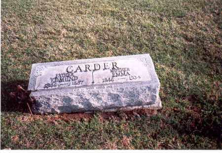 CARDER, EDMUND - Franklin County, Ohio | EDMUND CARDER - Ohio Gravestone Photos