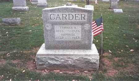 CARDER, TURNER A. - Franklin County, Ohio | TURNER A. CARDER - Ohio Gravestone Photos