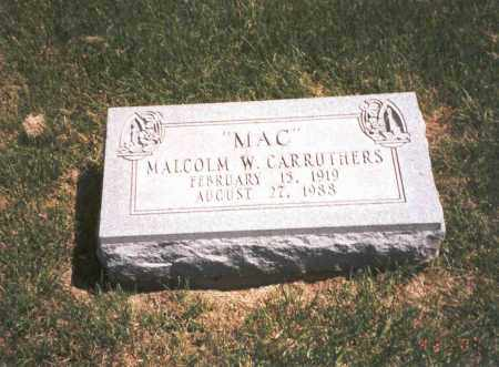 CARRUTHERS, MALCOLM W. - Franklin County, Ohio | MALCOLM W. CARRUTHERS - Ohio Gravestone Photos