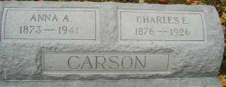 CARSON, ANNA A - Franklin County, Ohio | ANNA A CARSON - Ohio Gravestone Photos