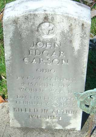 CARSON, JOHN EDGAR - Franklin County, Ohio | JOHN EDGAR CARSON - Ohio Gravestone Photos