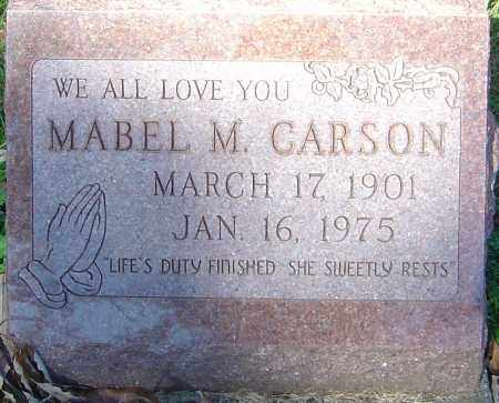 CARSON, MABEL M - Franklin County, Ohio | MABEL M CARSON - Ohio Gravestone Photos