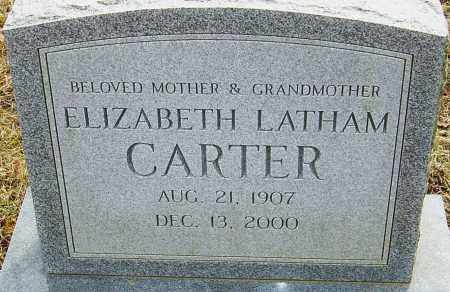 LATHAM CARTER, ELIZABETH - Franklin County, Ohio | ELIZABETH LATHAM CARTER - Ohio Gravestone Photos