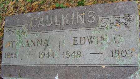 CAULKINS, EDWIN C - Franklin County, Ohio | EDWIN C CAULKINS - Ohio Gravestone Photos