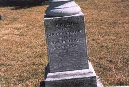 CAVINEE, SARAH - Franklin County, Ohio | SARAH CAVINEE - Ohio Gravestone Photos