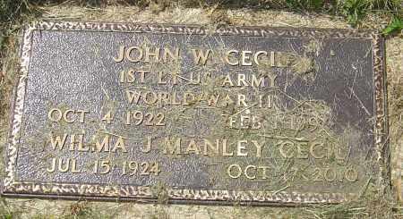 CECIL, JOHN W - Franklin County, Ohio | JOHN W CECIL - Ohio Gravestone Photos