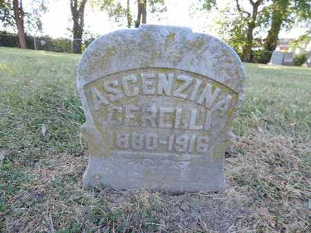 CERELLI, ASCENZINA - Franklin County, Ohio | ASCENZINA CERELLI - Ohio Gravestone Photos