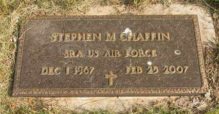 CHAFFIN, STEPHEN M. - Franklin County, Ohio | STEPHEN M. CHAFFIN - Ohio Gravestone Photos