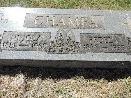 CHAMPA, NICOLA - Franklin County, Ohio | NICOLA CHAMPA - Ohio Gravestone Photos