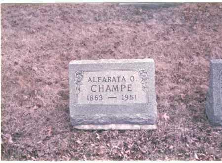CHAMPE, ALFARATA O. - Franklin County, Ohio | ALFARATA O. CHAMPE - Ohio Gravestone Photos