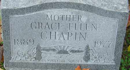 CHAPIN, GRACE ELLEN - Franklin County, Ohio | GRACE ELLEN CHAPIN - Ohio Gravestone Photos