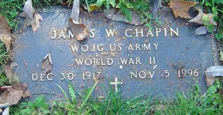 CHAPIN, JAMES W - Franklin County, Ohio | JAMES W CHAPIN - Ohio Gravestone Photos