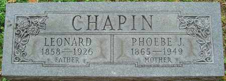 BROWN CHAPIN, PHOEBE J - Franklin County, Ohio | PHOEBE J BROWN CHAPIN - Ohio Gravestone Photos